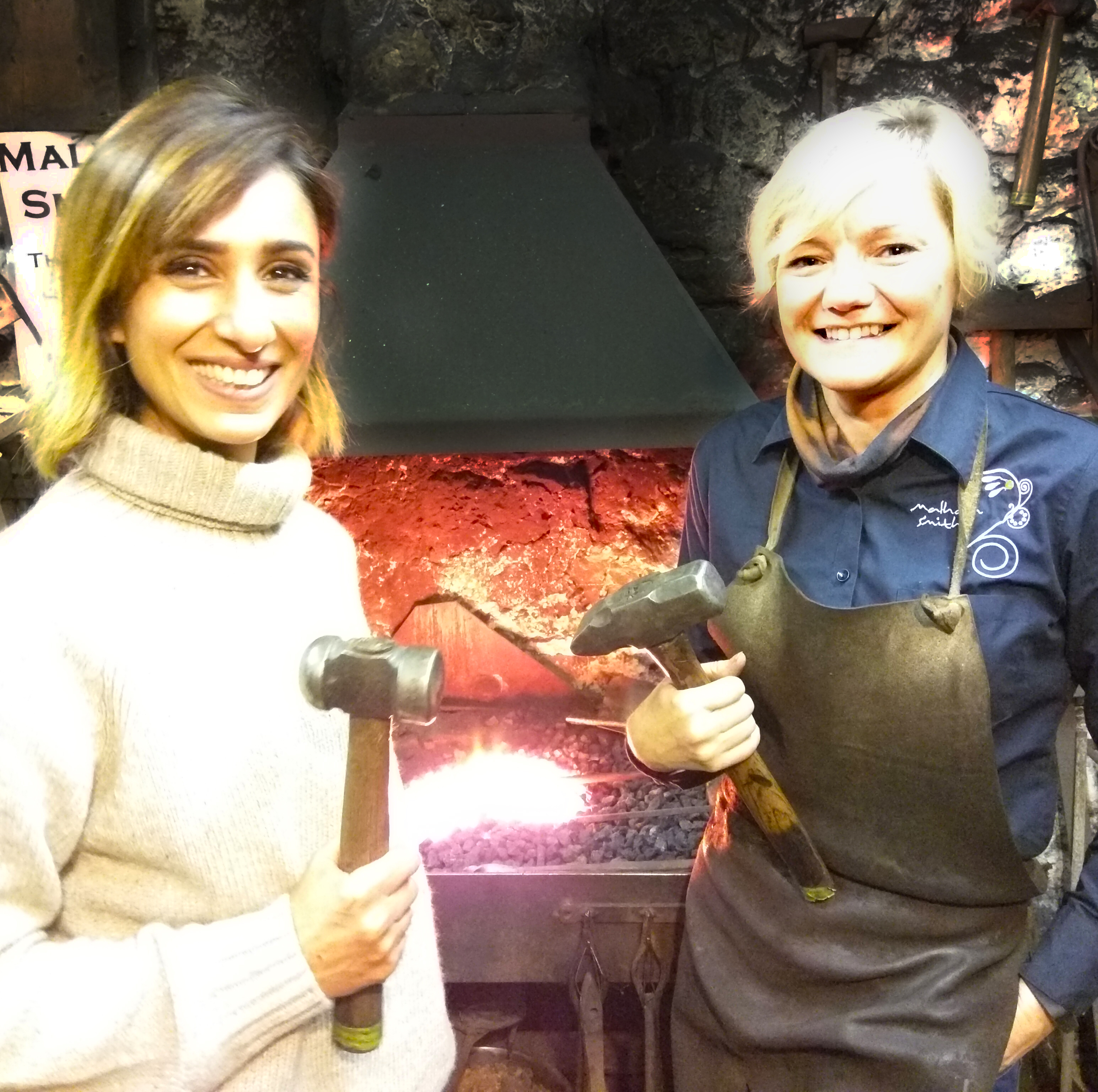 Countryfile Female Blacksmith Annabelle Bradley from the Malham Smithy